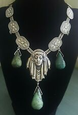 JOSEFF HOLLYWOOD PRINCESS Egyptian Revival Art Deco Nouveau 925 Sterling Silver