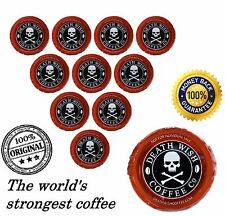 10 Death Wish Coffee K-Cups Single Serve Capsules The World's Strongest Coffee
