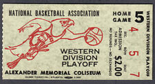Atlanta Hawks Vintage 1969 or 1970 Playoff Ticket Stub Game 5