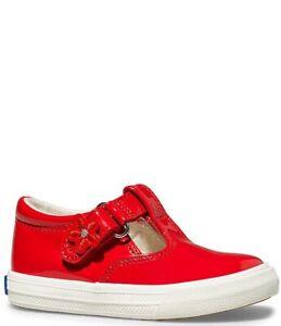 Keds Daphne Girls Red PatentT Strap Mary Jane