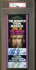 Mike Tyson Signed Full Ticket Ruddick Re-Match 6/28/1991 Autographed PSA/DNA