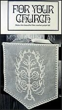 Vtg Crochet Pattern • FILET LACE PULPIT FALL CLOTH • Church • Religious • Holy