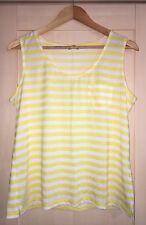 M/&S Ladies Womens Summer Yellow Tops T-Shirt  V Neck Size 12 14 16 18 20