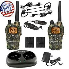 Two-Way Radio Walkie Talkie Pair Camouflage 36-Mile 50-Channel FRS/GMRS Weather