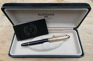 New Aurora 88 Lined Heavy Gold Plated Cap Roller Ball Pen