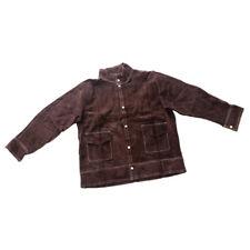 Welding Work Jacket Flame-Resistant Heavy Duty Cowhide Leather Brown - Xl