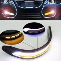 2Pcs Dual Color COB LED Car SUV Driving Fog Light & Turning Signal Lamps