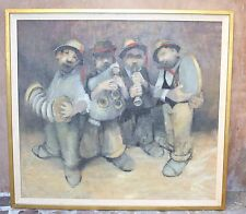 MAGNIFICENT O/C PAINTING OF THE MUSICIANS BY LEONARD CREO AMERICAN LISTED ARTIST