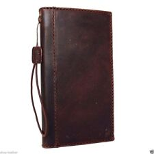 genuine oil leather Case for Samsung Galaxy S7 book wallet handmade cover thin