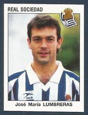 PANINI FUTBOL 93-94 SPANISH -#267-REAL SOCIEDAD-JOSE MARIA LUMBRERAS