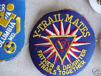 VINTAGE Uniform Patch Embroidered Y Trail Mates LOOK