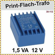 Print Trafo BV 222-0-11 231, 1,5VA, 12V, Schaffer Trafo, Printtrafo, neu