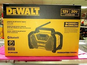 DEWALT DCR028B Bluetooth Jobsite Radio- NEW in original Box