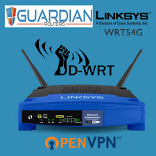 Linksys WRT54G version1>4 DDWRT Wireless VPN Router - OpenVPN PPTP L2TP