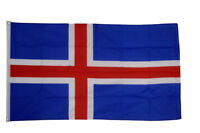 Iceland Flags & Bunting - 5x3' 3x2' & Giant 8x5' Table Hand - World Cup 2018