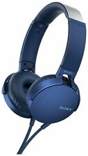 Sony MDR-XB550AP On-Ear Wired Headphones - Black/Blue/Red.