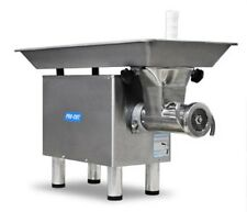 COMMERCIAL #22 BUTCHER MEAT GRINDER 1HP 110 V 1 PH STAINLESS HEAD, RING & WORM