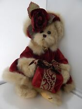 Bearington Collection JointedTeddy Bear with Holiday Dress and Gift Box 15""