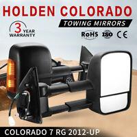 2PCS Extendable Towing Mirrors Black For Holden COLORADO / COLORADO 7 2012-ON