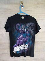 vtg t shirt asking alexandria graphic rock music printed small T shirt ref A3