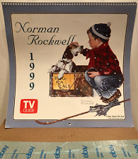 1999 Tv Guide Norman Rockwell Calendar - Suitable for Framing!