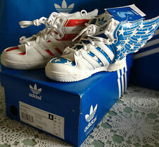 JEREMY SCOTT CHILDRENS WINGS TRAINERS SIZE UK 8 1/2 BLUE AND RED #1