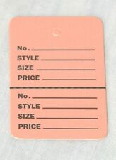 100 PINK Small (1.1/4 x1.7/8) Perforated Unstrung Price Consignment Store Tags