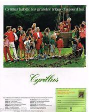 Publicité Advertising 1992 Pret à porter vetements Cyrillus