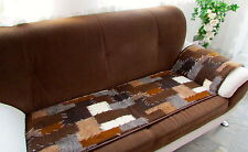 "Seat Cover Couch Saver Throw 1 Piece "" Patchwork "" 60x200 cm 100% Wool"