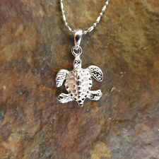 Hawaiian Jewelry 925 Sterling Silver Turtle Swimming Pendant SP23901