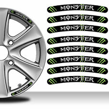 8 Monster Rim Stickers Wheel Stripes Set Emblem Car Auto Tuning Motorcycle RV 27