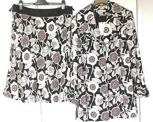 NWT Laura Ashley Suit 3/4 Jacket & Flared Skirt 100% Linen Jacket 16 Skirt 18