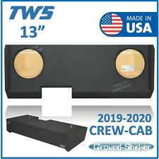 "Chevy Silverado Crew Cab 2020 13"" Sub Box Subwoofer Enclosure For JL Audio TW5"