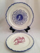Rare Mottahedeh George Washington Bicentennial 1976 Dinner & Salad Plate