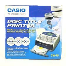 Casio CW-75 CD DVD Disc Title Printer Keyboard Label Writer New Open Box