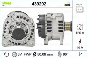 Valeo Alternator 439292 fits Renault Trafic 1.9 dCi 100 (X83) 74kw, 1.9 dCi 8...
