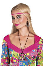 Hippie Hippy 60s 70s Peace Necklace and Earrings Fancy Dress Costume Accessory