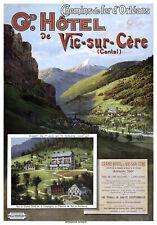 Affiche chemin de fer Orléans - Vic-sur-Cère