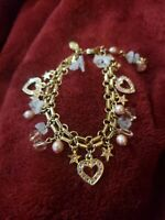 Kirks folly crystal hearts bracelet