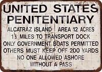 """Alcatraz Prison Rustic Retro Metal Sign 8"""" x 12"""""""