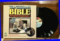 "The CHILDREN'S BIBLE Sound and Pictures 12"" LP 1974 Peter Pan DM101 Boxset EX/NM"
