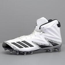 New Adidas Freak x Carbon High Mens Hi Top Football Cleats - White Black - Sz 14