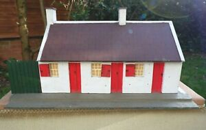Lovely Rustic Handmade Vintage Dolls House - Lid Lifts