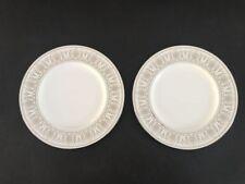 """Lenox Royal Hannah  Platinum Accent Set of 2 Plates 9.25""""D"""