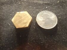 "BRASS HEXAGON PIECES 3/4"" X 1/4"" -ROUGH CUT- C36000 BRAS HEX- I EACH"