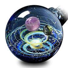 Handmade Galaxy Pendant Necklace Universe Glass Jewelry Space Cosmos Birthday