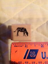 Cow Rubber Stamp Stampscapes Wood Mounted Grazing