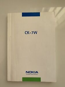 Nokia CK-7W Car Bluetooth Kit User Manual In Good Condition