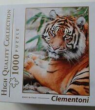 CLEMENTONI 1000 piece JIGSAW Puzzle Sumatran Tiger