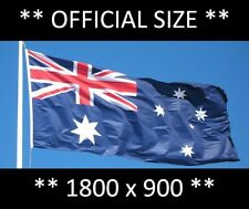 ** FREE SHIPPING ** Heavy Duty Official Australian Flag 1800 x 900mm, Polyester